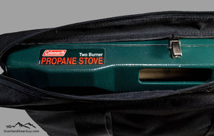 Coleman 2 Burner Stove Bag by Overland Gear Guy, Coleman 2 burner propane stove  bag