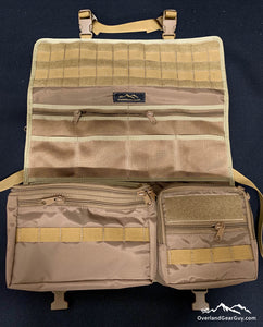 Aspen Seat Organizer by Overland Gear Guy - Coyote Tan Custom Vehicle Organization