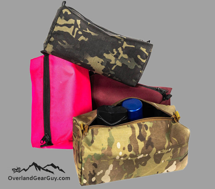 Custom Bathroom Toiletries Bag by Overland Gear Guy
