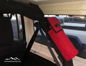 Fire Extinguisher Pouch for Jeep Roll Bar by Overland Gear Guy - Available in multiple colors
