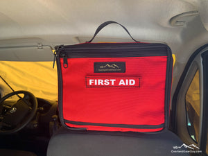 First Aid kit headrest pouch, vehicle first aid kit, headrest first aid kit