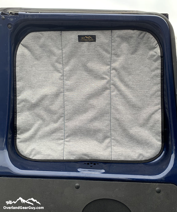 Ford E350 Van Deluxe Insulated Magnetic Rear Door Window Covers by Overland Gear Guy