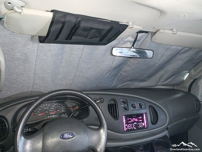 Deluxe Insulated Inside Windshield Window Cover for Ford Econoline vans - Ford Van accessories by Overland Gear Guy