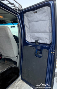 Ford Econoline Van Insulated Magnetic Side Barn Door Window Covers