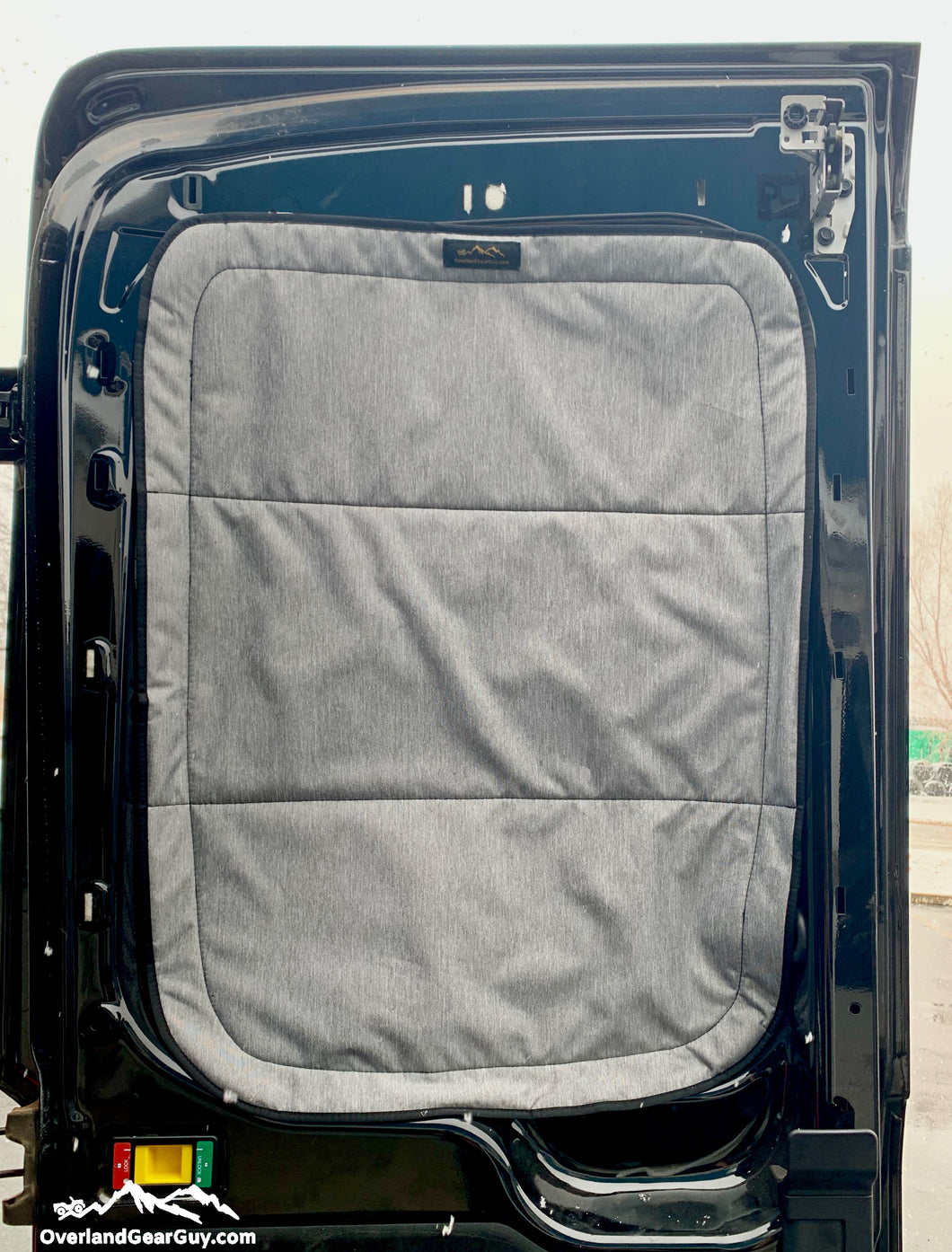 Ford Transit rear door window covers by Overland Gear Guy