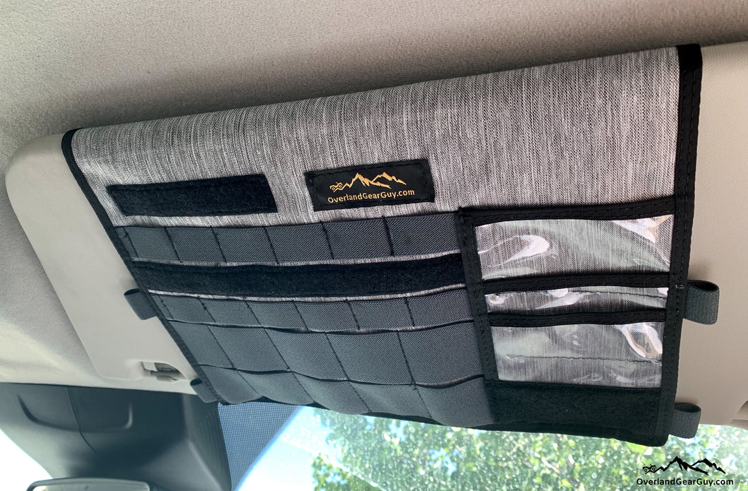 Ford Transit Visor Organizer with mirror by Overland Gear Guy