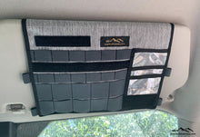 Load image into Gallery viewer, Ford Transit Visor Organizer with mirror by Overland Gear Guy