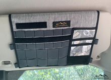 Load image into Gallery viewer, Ford Transit Visor Organizer by Overland Gear Guy - Van Life Accessories