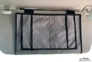 Ford Transit Visor Organizer by Overland Gear Guy - Van Life Accessories