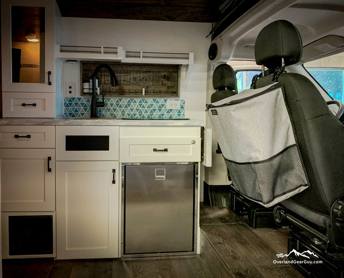 Large Headrest Trash Bag, Campervan Trash Bag by Overland Gear Guy