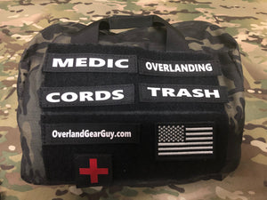 Custom velcro ID tags by Overland Gear Guy