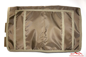 Tan Visor Pouch for Sprinter Van by Overland Gear Guy