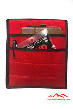 Load image into Gallery viewer, Red Velcro Pocket, Accessories Flat Pocket with Velcro by Overland Gear Guy