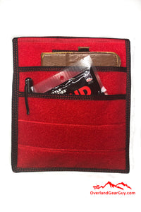 Red Velcro Pocket, Accessories Flat Pocket with Velcro by Overland Gear Guy