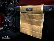 Load image into Gallery viewer, Tan Jeep Passenger Grab Handle Accessories Flat Pocket with Velcro by Overland Gear Guy