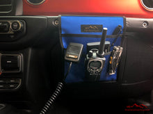 Load image into Gallery viewer, Blue Jeep Passenger Grab Handle Accessories Flat Pocket with Velcro by Overland Gear Guy
