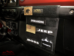 Black Jeep Passenger Grab Handle Accessories Flat Pocket with Velcro by Overland Gear Guy