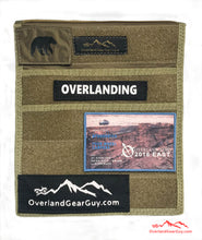 Load image into Gallery viewer, Jeep Passenger Grab Handle Accessories Flat Pocket with Velcro by Overland Gear Guy