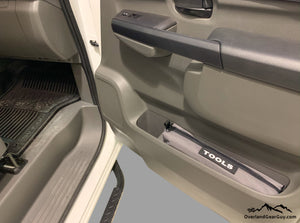 Custom Door Cubby Pouches for Nissan NV, Nissan NV van accessories by Overland Gear GuyCustom Door Cubby Pouches for Nissan NV, Nissan NV van accessories by Overland Gear Guy, tool storage van