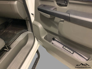 Custom Door Cubby Pouches for Nissan NV, Nissan NV van accessories by Overland Gear Guy, light storage bag