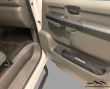 Load image into Gallery viewer, Custom Door Cubby Pouches for Nissan NV, Nissan NV van accessories by Overland Gear Guy, strap storage vehicle