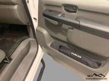Load image into Gallery viewer, Custom Door Cubby Pouches for Nissan NV, Nissan NV van accessories by Overland Gear Guy, Storage bag for cables