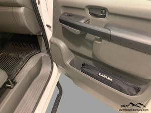 Custom Door Cubby Pouches for Nissan NV, Nissan NV van accessories by Overland Gear Guy, Storage bag for cables