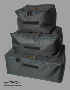 Fabric collapsible storage cube by Overland Gear Guy, soft sided fabric cube, storage accessories