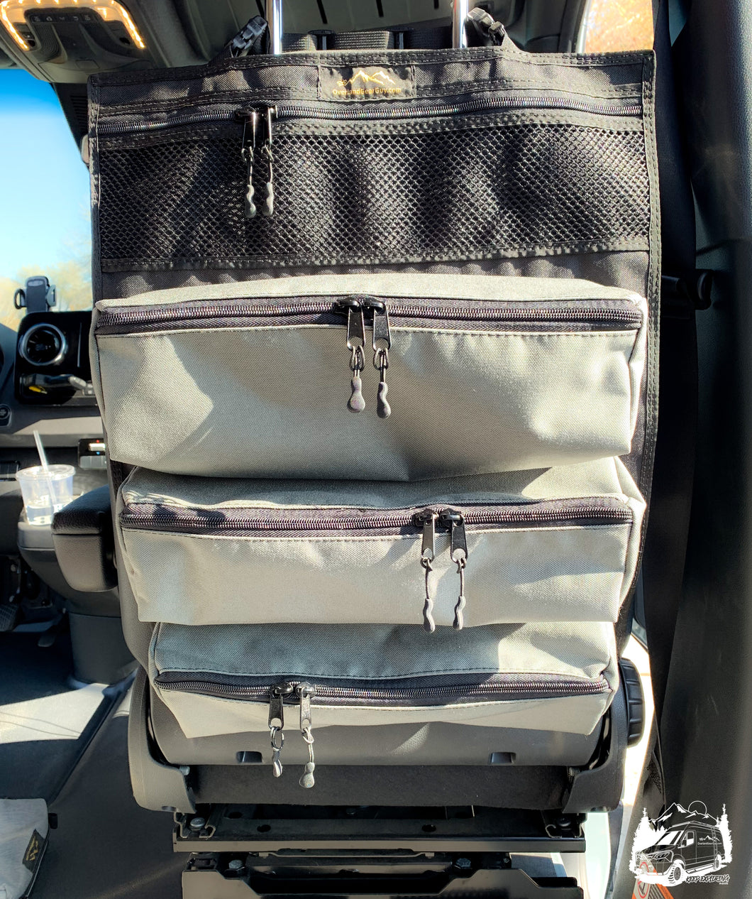 Poplar Seat Organizer by Overland Gear Guy - custom setback organizer and vehicle organization