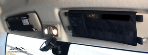 Promaster Van Sun Visor Pouch with mirror by Overland Gear Guy, mirror sun visor pouch for Promaster