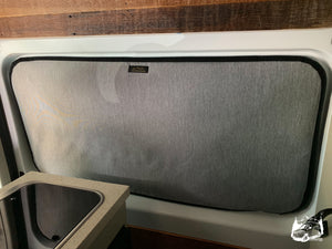 Promaster Magnetic Insulated Sliding Door Window Cover by Overland Gear Guy - Custom Campervan Window Covers