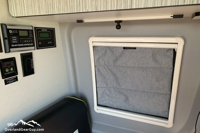 Revel Insulated Window Pillow - Insulated Window Covers by Overland Gear Guy - Winnebago Revel accessories