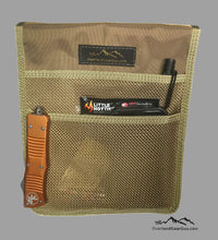 Load image into Gallery viewer, Roof Top Tent Tan Storage Bag by Overland Gear Guy, Coyote Mesh Storage Pocket