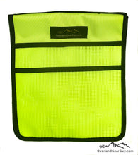 Load image into Gallery viewer, Neon Yellow Jeep Passenger Grab Handle Flat Pocket by Overland Gear Guy