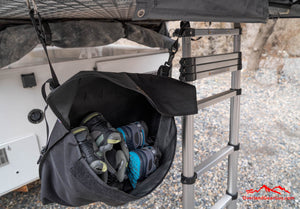 Roof Top Tent Shoe Bag by Overland Gear Guy, Shoe Storage for Roof Top Tent