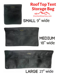 Roof Top Tent Storage Bag by Overland Gear Guy