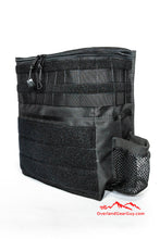 Load image into Gallery viewer, Custom Black Headrest Storage Bag by Overland Gear Guy