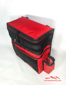 Custom Red Headrest Storage Bag by Overland Gear Guy