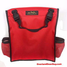 Load image into Gallery viewer, Custom Red Headrest Storage Bag by Overland Gear Guy