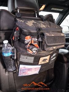 Headrest Storage Bag with optional MOLLE pouch by Overland Gear Guy