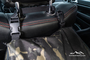 Headrest Storage Bag with quick release buckles by Overland Gear Guy
