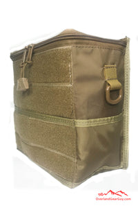 Tan Sequoia Headrest Bag by Overland Gear Guy - Vehicle Seat Cargo Pouch