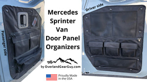 Sprinter Van Door Panel Organizer - Sprinter van accessories by Overland Gear Guy