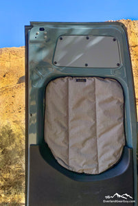 Premium Sprinter Havelock Wool Insulated Rear Window Covers by Overland Gear Guy
