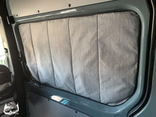 Load image into Gallery viewer, Deluxe Magnetic Insulated Sliding Door Window Cover for Sprinter Van - Custom Sprinter Van window covers by Overland Gear Guy
