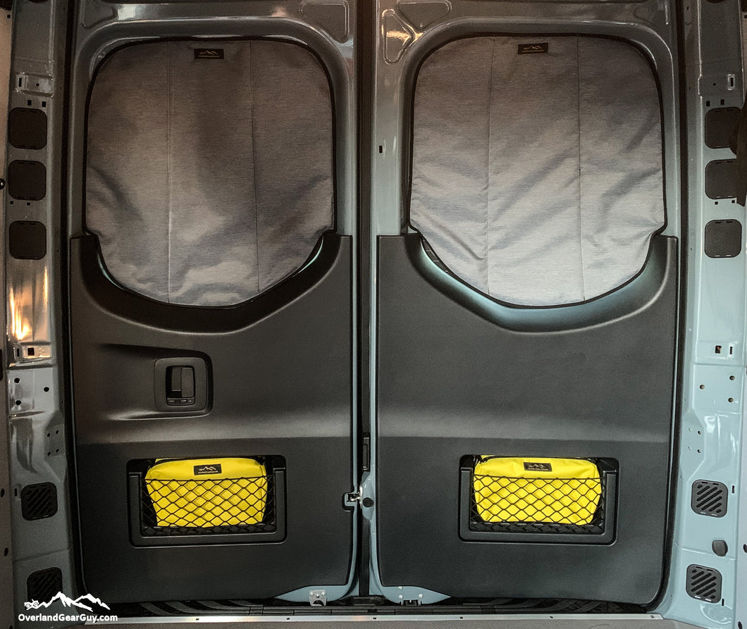 Yellow Storage Pouch with Velcro ID Tag - Sprinter Van Door Storage Pouch by Overland Gear Guy