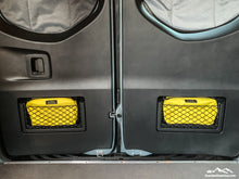 Load image into Gallery viewer, Yellow Storage Pouch with Velcro ID Tag - Sprinter Van Door Storage Pouch by Overland Gear Guy