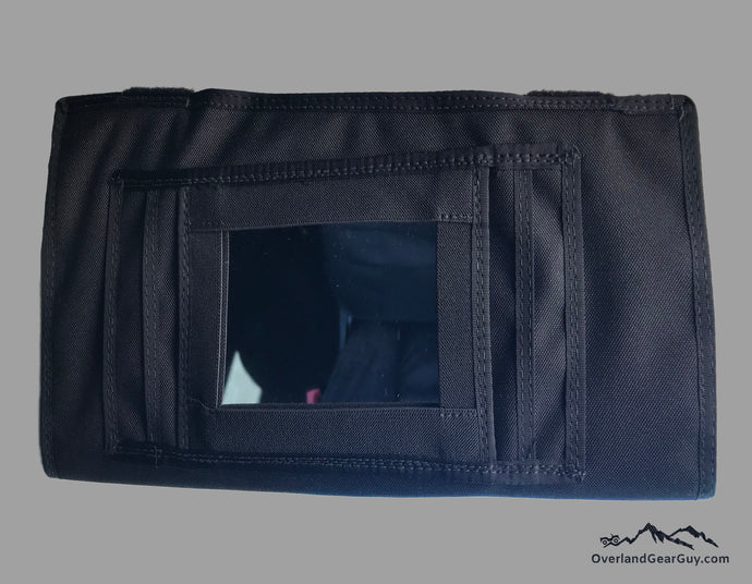 Black Visor Pouch for Sprinter Van by Overland Gear Guy, Sprinter Visor with mirror, Black Sun Visor Pouch