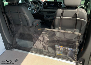 Sprinter Van Dog Barrier - Campervan Mesh Dog Barrier by Overland Gear Guy