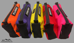 Tool Pouch with mesh ends and velcro ID Tag by Overland Gear Guy, Colorful Tool Pouches, Tool Bags, Custom Tool Pouches